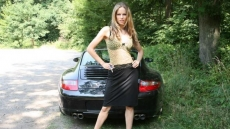 porsche 911 carrera hot driving girl (9)
