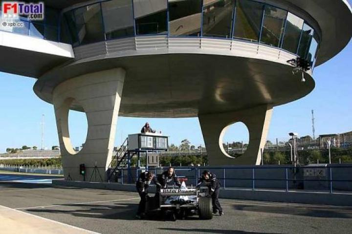 Testfahrten in Jerez