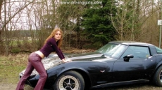 chevrolet corvett hot driving girl (2)