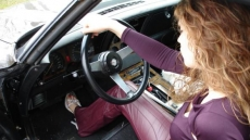 chevrolet corvett hot driving girl (4)