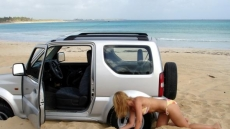 Car Stuck Girls on the beach (14)